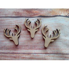 Stag Head Laser cut PK 10